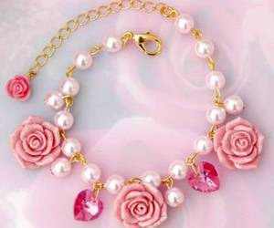 pink, rose, and pearls image