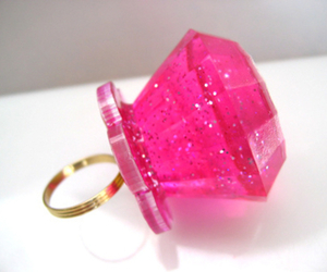 pink, ring, and glitter image