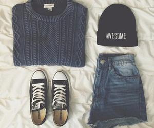 fashion, sweater, and hood image