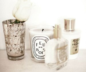 candle, white, and rose image
