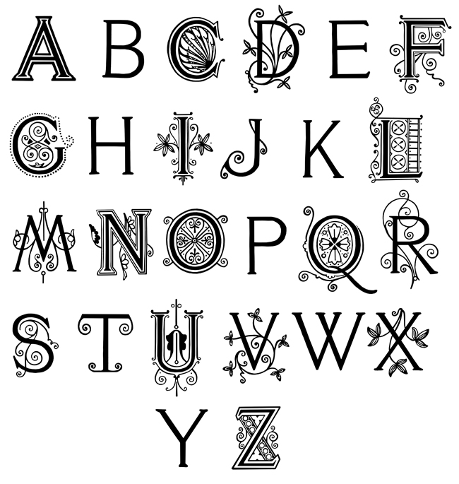 Fancy alphabet letters image 10 on we heart it maxwellsz