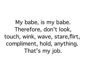babe, mine, and flirt image