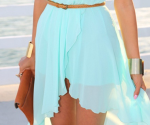 blue, pink, and skirt image