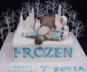 frozen and cake image