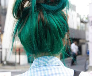 hair, green, and green hair image