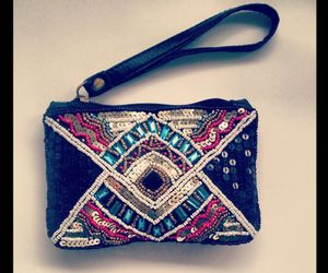 beads, purse, and ethnic image
