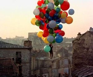 balloons, fly, and colors image