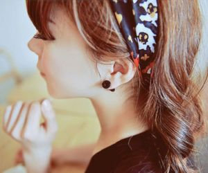 asian, earing, and fashion image