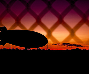 D50, sunset, and zeppelin image