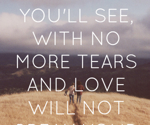 love, quote, and tears image