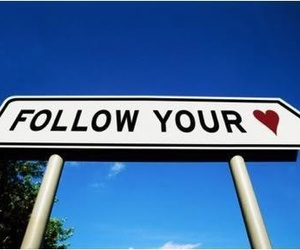 heart, follow, and follow your heart image