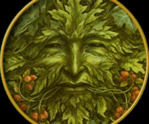 celtic, face, and green image