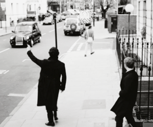 Martin Freeman, sherlock, and benedict cumberbatch image