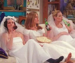 friends, bride, and funny image