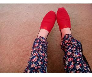 feet, flowers, and pants image