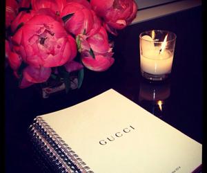 gucci, flowers, and candle image