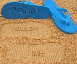follow, beach, and me image