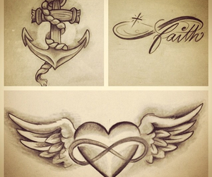 anchor, heart, and love image