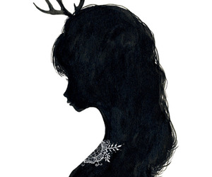 girl, art, and antlers image