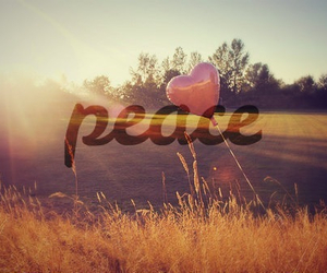 peace, heart, and quote image