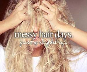 hair, messy, and blonde image