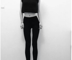 thin, skinny, and black and white image