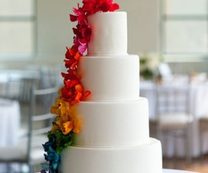 rainbow wedding cake image