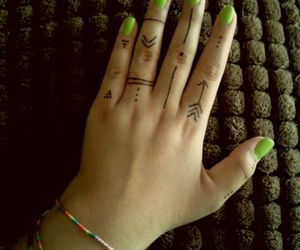 designs, hipster, and nails image