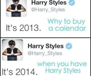 Harry Styles, one direction, and calendar image