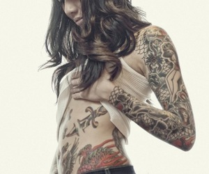 cool, girl, and tattoo image
