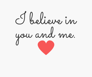 love and believe image