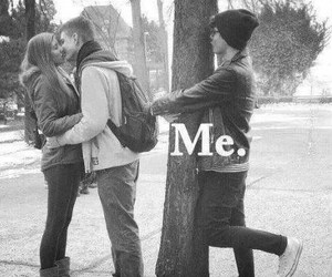 me, alone, and couple image