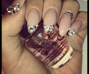 glam, luxury, and nails image