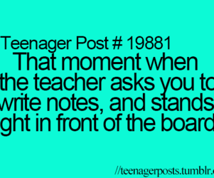 teenager post, school, and notes image