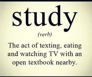 study, studying, and texting image