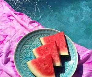 fresh, pink, and pool image