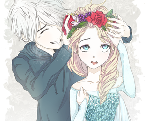 elsa, jack frost, and frozen image