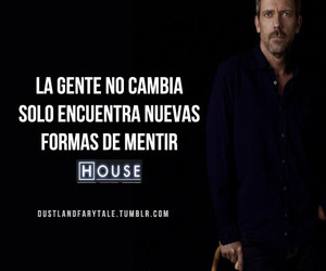 Dr. House, liar, and lies image