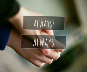 always, couple, and hands image