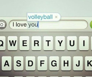 volleyball, life, and text image