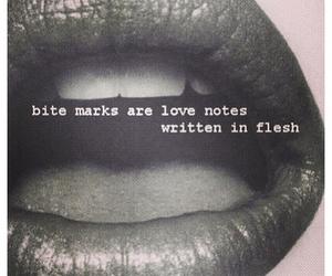 love, lips, and bite image