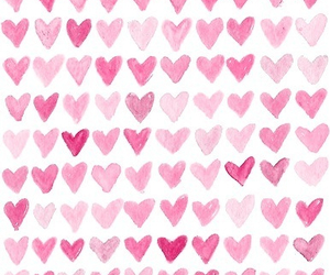 pink, hearts, and heart image