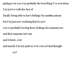 mine, poem, and getting over you image