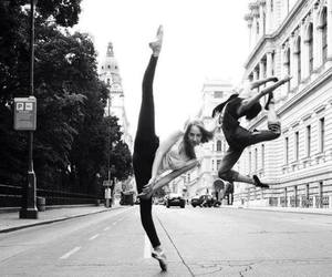 dance, black and white, and art image