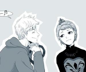 jack frost, elsa, and jelsa image