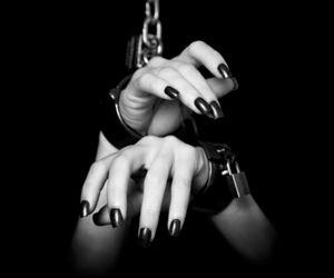 black, gothic, and dark image