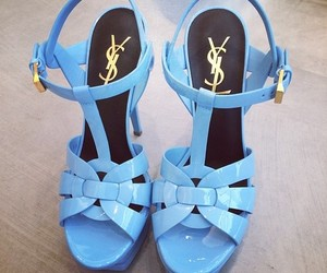 shoes, blue, and YSL image