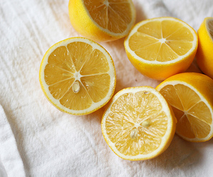 lemon, fruit, and yellow image