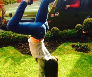 cool, girl, and handstand image