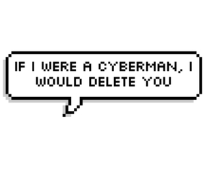 cyberman, delete, and doctor who image